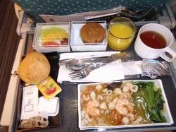 シンガポール航空機内食(ランチ)